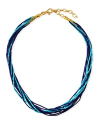 Gurhan 24K Delicate Waterfall Turquoise And Lapis Necklace