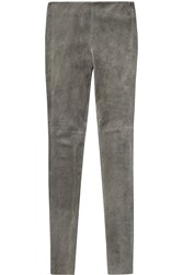 Maison Martin Margiela Suede Leggings Gray