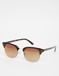 French Connection Preppy Sunglasses Brown Gold