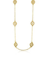 Tory Burch Gold Plated Logo Toggle Short Necklace