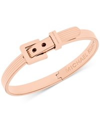 Michael Kors Ribbed Buckle Bangle Bracelet Rose