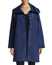 Jane Post Snap Front High Sheen Coat