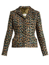 Maison Martin Margiela Single Breasted Boucle Jacket Beige Multi