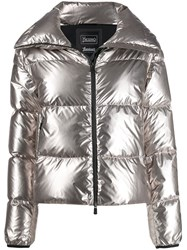 Herno High Neck Puffer Jacket Grey