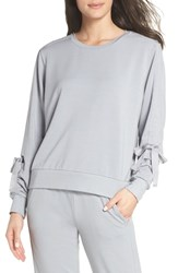 Zella Gather Sleeve Sweatshirt Grey Wolf