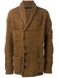 Isabel Benenato Knit Cardigan Brown