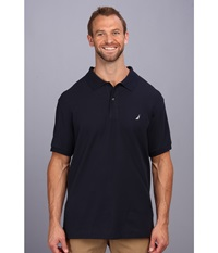Nautica Big Tall Anchor Solid Deck Shirt Navy Men's Short Sleeve Pullover