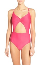 Junior Women's Bp. Cutout One Piece Swimsuit