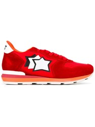 Atlantic Stars Lace Up Sneakers Red
