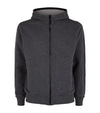 Stone Island Full Zip Hoodie Male Grey