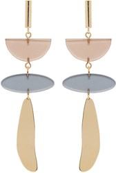 Isabel Marant Gold And Brown Clear Earrings