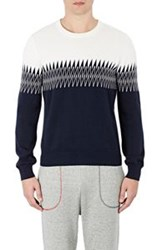 Band Of Outsiders Zigzag Knit Sweater Multi Size 1 S