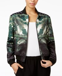 Rachel Roy Printed Bomber Jacket Only At Macy's Hunter Black