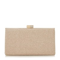 Linea Bryley Embellished Clasp Clutch Gold