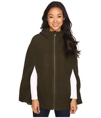 Prana Whitney Cape Dark Green Heather Women's Sweater Olive