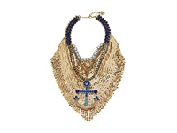 Betsey Johnson Shipshape Gold Mesh Anchor Frontal Necklace Multi Necklace