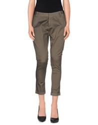Maison Espin Trousers 3 4 Length Trousers Women Military Green