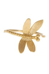 Jami Matte Textured Dragonfly Ring Metallic