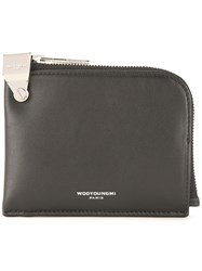 Wooyoungmi Logo Print Pouch Black