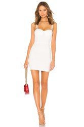 By The Way Savanah Square Trim Corset Dress White