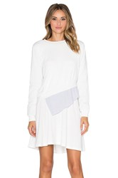 Shades Of Grey Multi Layer Dress White