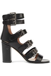 Laurence Dacade Dana Buckled Leather Sandals Black