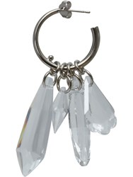 Paco Rabanne Plastic Earrings Silver
