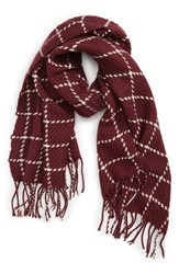 Saachi Grid Plaid Fringe Scarf
