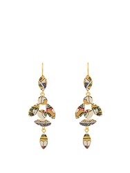 Isabel Marant Marley Enamel Bird Drop Earrings Multi