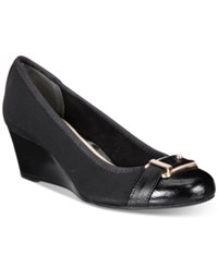 Alfani Women's Step 'N Flex Tomina Wedges Only At Macy's Women's Shoes Black