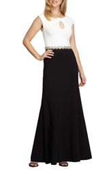 Alex Evenings Women's Embellished Colorblock Gown