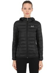 Emporio Armani Hooded Train Core Light Down Jacket Black