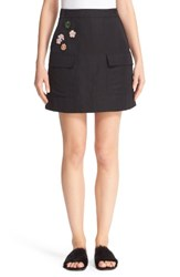 Tomas Maier Women's Embellished Toile Skirt