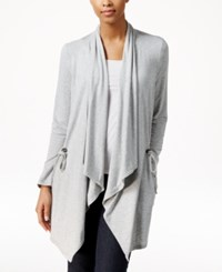 G.H. Bass And Co. Draped Open Front Cardigan