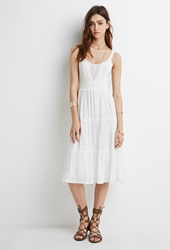 Forever 21 Knit Combo Dress Ivory