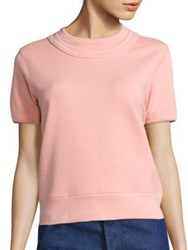 A Detacher Ingrid Short Sleeve Sweatshirt Blush