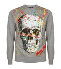 Philipp Plein Odd Printed Jumper Male Grey