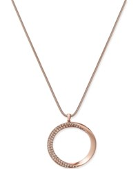 Alfani Hematite Gold Or Rose Gold Tone Pave Twist Pendant Necklace Only At Macy's