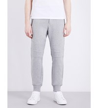 The Kooples Biker Tapered Cotton Jersey Jogging Bottoms Gry05