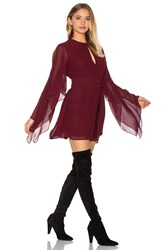 Keepsake Step Back Dress Burgundy