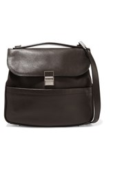 Proenza Schouler Kent Textured Leather Shoulder Bag Dark Brown