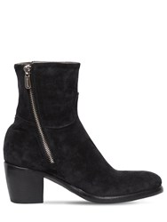 Rocco P. 60Mm Zipped Suede Ankle Boots Black