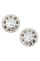 Women's Judith Jack Pave Stud Earrings Marcasite