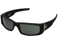 Spy Optic Hielo Soft Matte Black Happy Gray Green Plastic Frame Fashion Sunglasses