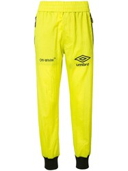 Off White Neon Track Pants Yellow Orange