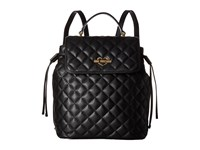 Love Moschino Quilted Flap Backpack Black Backpack Bags
