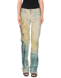 Galliano Denim Denim Trousers Women