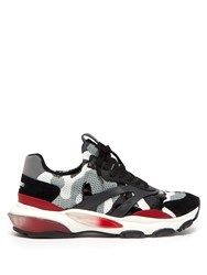 Valentino Bounce Raised Sole Low Top Trainers Grey Multi