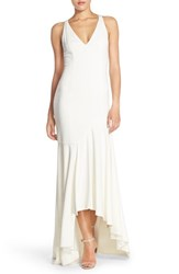 Women's Jay Godfrey Cutout Back Crepe High Low Gown