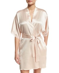 Christine Designs Bijoux Short Silk Robe Light Pink